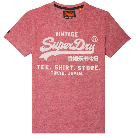 Superdry Shirt Shop Feeder T-Shirt in Red Feeder Grit T-Shirts Superdry