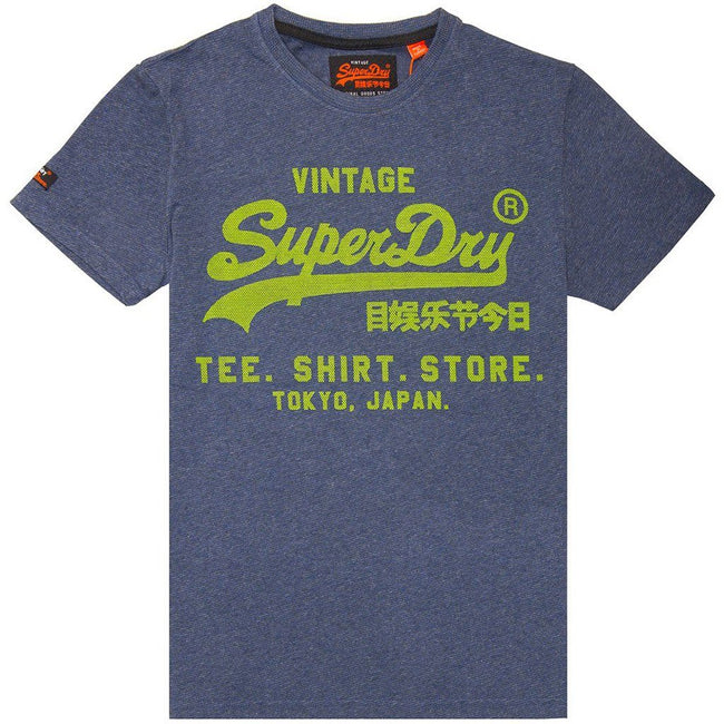 Superdry Shirt Shop Feeder T-Shirt in Royal Blue