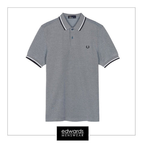 Fred Perry M3600-759 Polo Shirt in Carbon/Navy/White