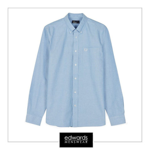 Fred Perry M9546-146 Oxford Shirt in Light Smoke