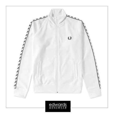 Fred Perry J6231-129 Laurel Tape Track Jacket in Snow White