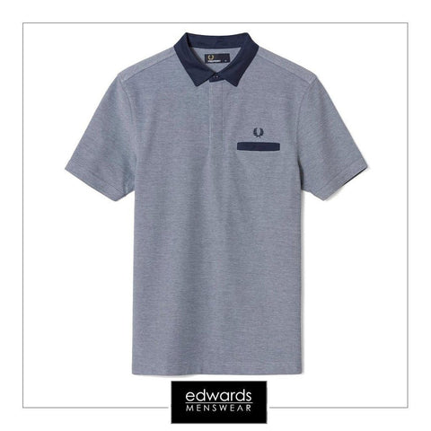 Fred Perry M9555 302 Polo Shirt in Carbon Blue
