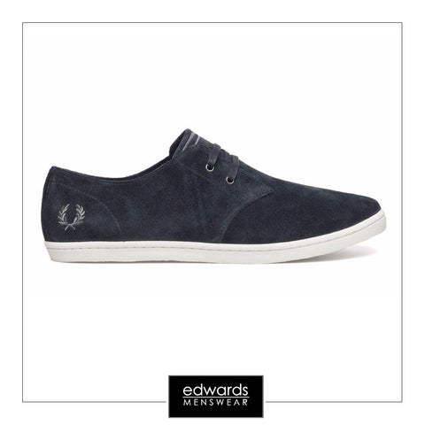 Fred Perry B7401-248 Byron Low Suede Trainers in Navy