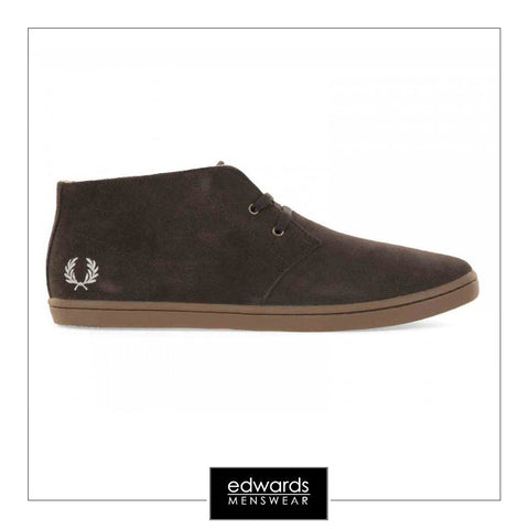 Fred Perry B7400-325 Byron Mid Suede in Dark Chocolate
