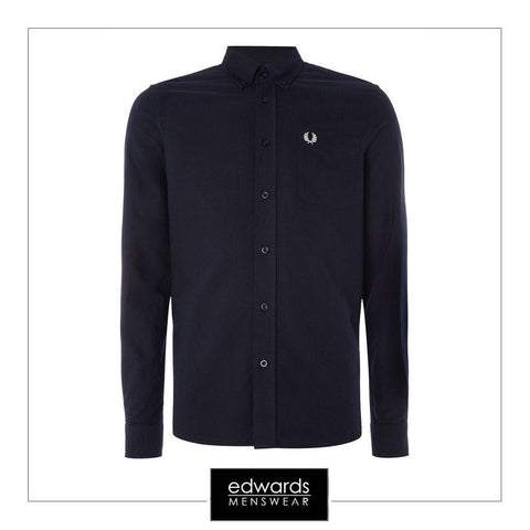 Fred Perry Oxford Shirt M9546-608 in Navy
