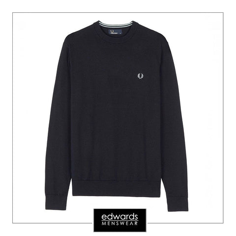 Fred Perry K8261-248 Classic Crew Neck in Navy