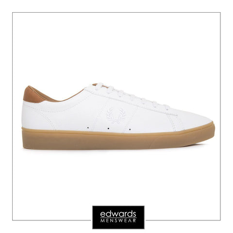 Fred Perry Spencer B1134-100 Tumbled Leather Shoes in White