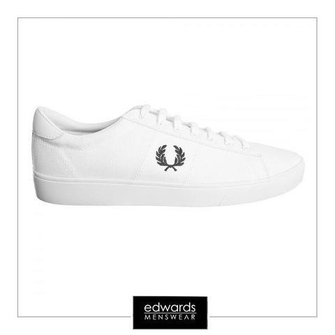 Fred Perry Spencer Canvas Trainers in White