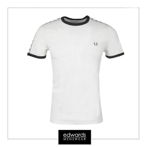 Fred Perry Taped Ringer T-Shirt in Snow White