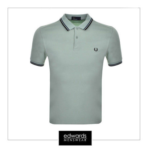 Fred Perry Twin Tipped Polo Shirt in Mint