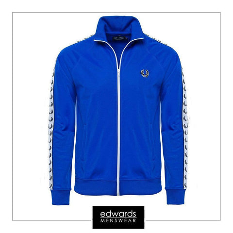 Fred Perry Taped Track Jacket in Regal Blue