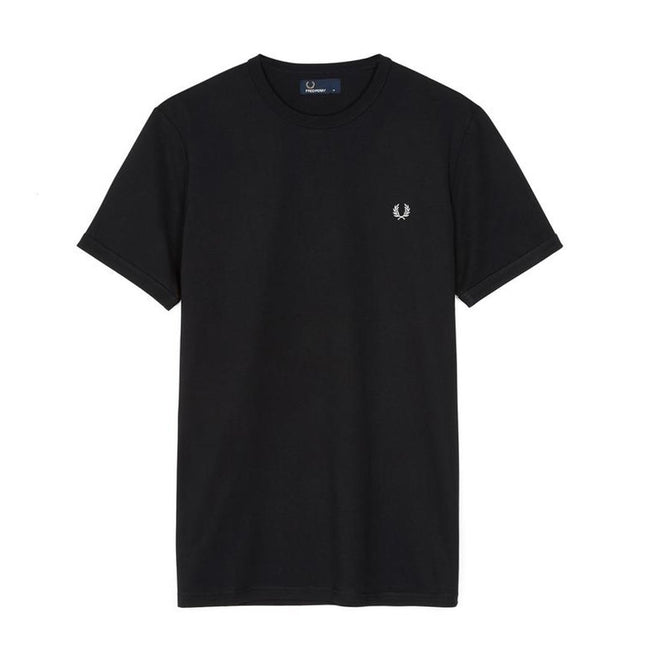 Fred Perry M3519 Ringer Tee in  Black
