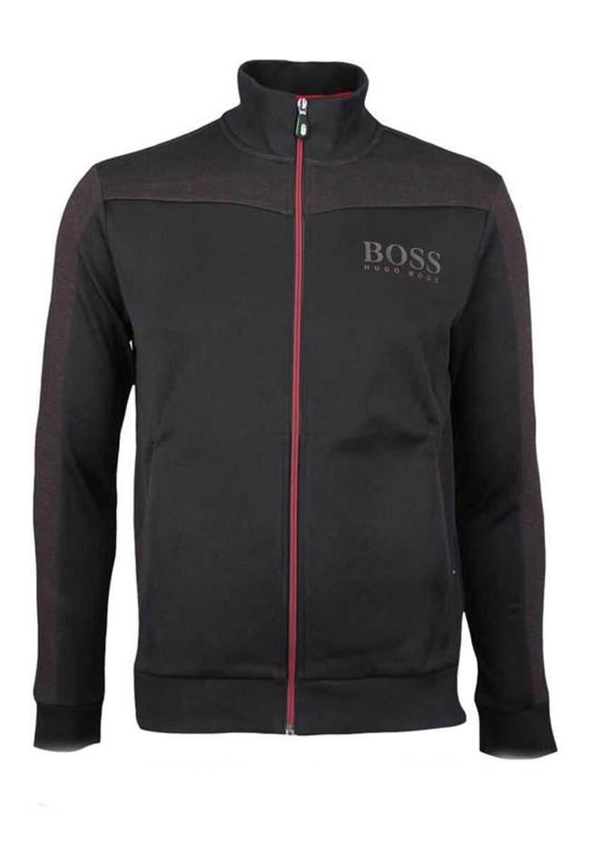 BOSS Skaz Full Zip Sweatshirt in Black