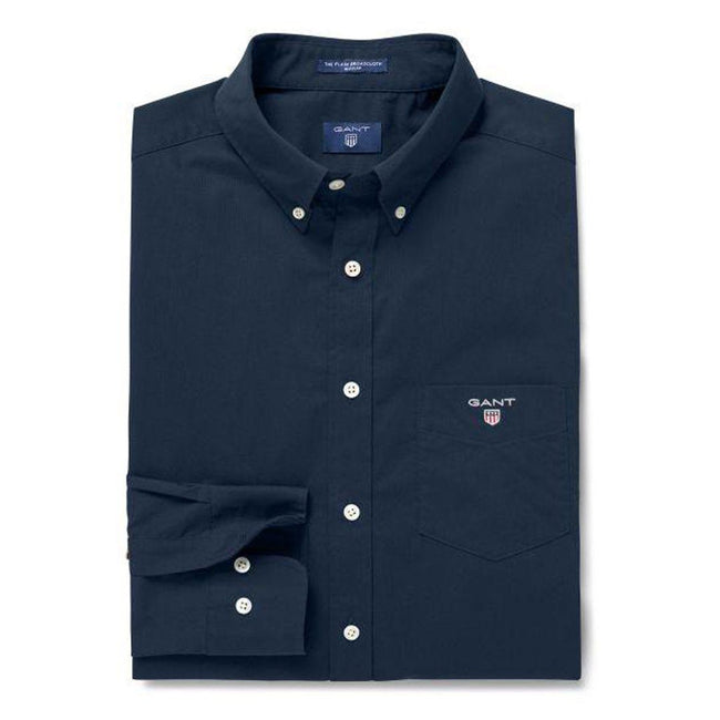 Gant The Broadcloth Regular Fit Shirt in Marine