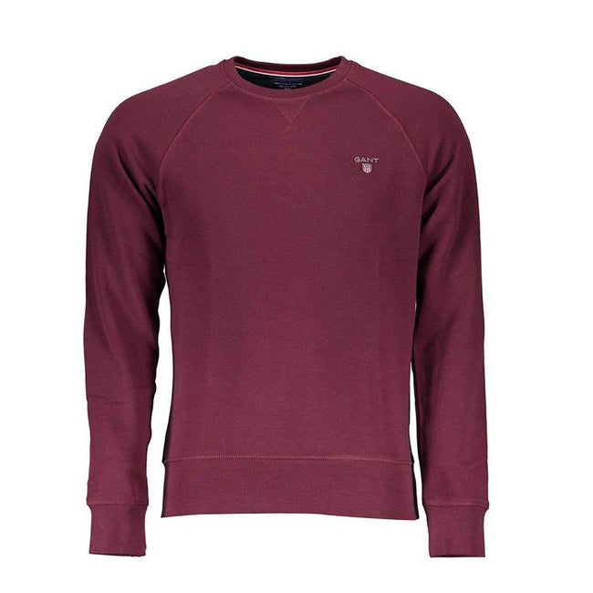 Gant Original Crew Neck Sweatshirt in Purple Fig