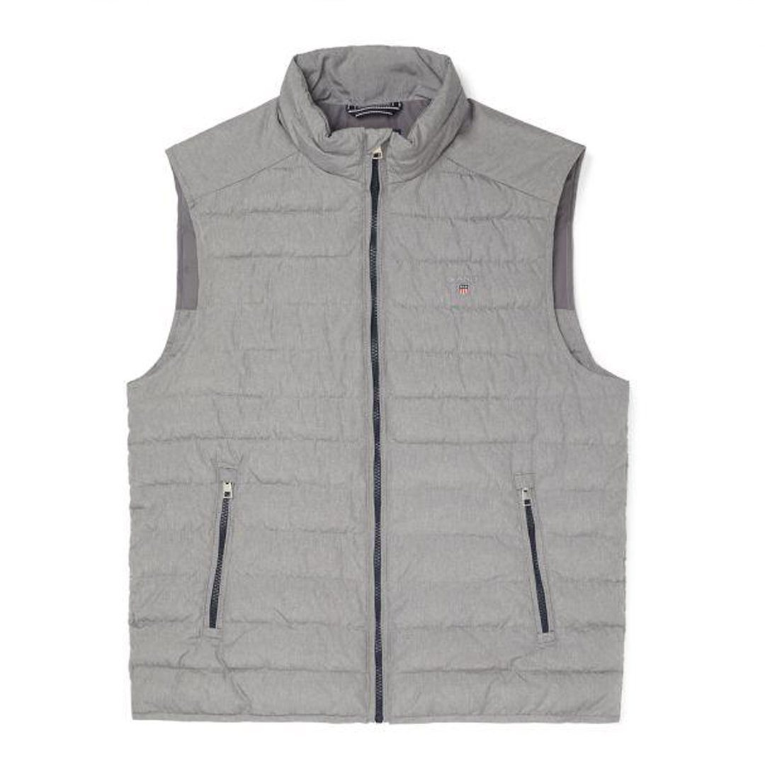 Gant Summer Cloud Vest in Granite