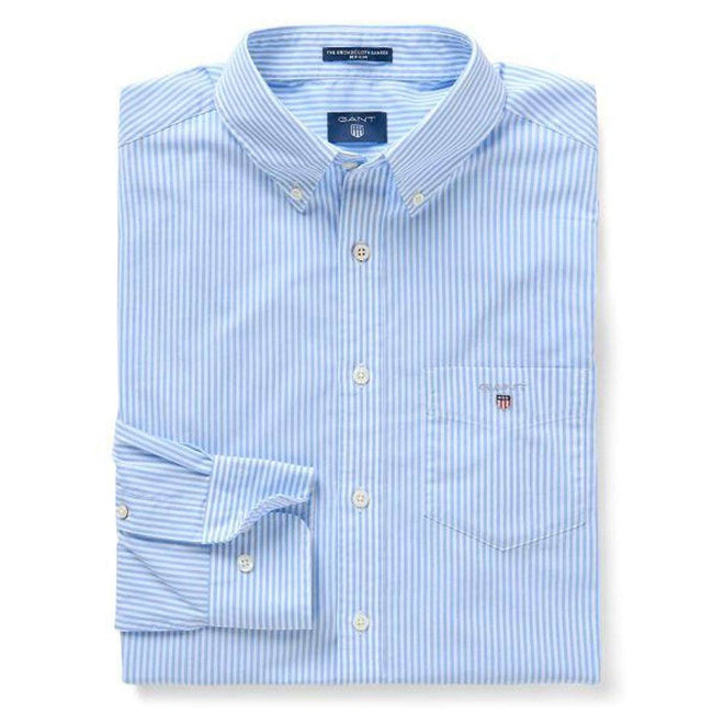 Gant The Broadcloth Banker Regular Shirt Fit in Capri Blue