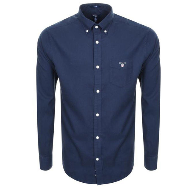 Gant Brushed Oxford Shirt in Marine