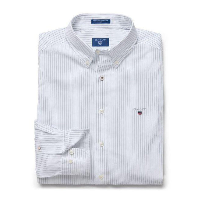 Gant The Broadcloth Pinstripe in White