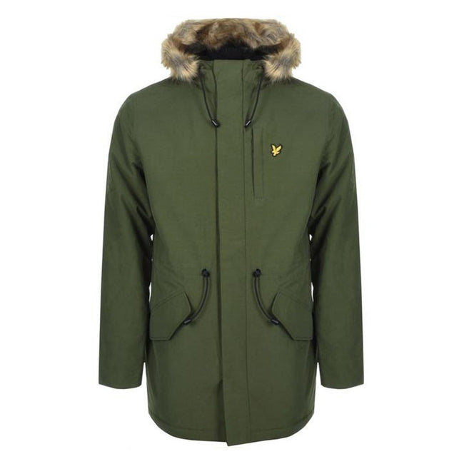 Lyle & Scott Winter Weight Micro-fleece Lined Parka in Green