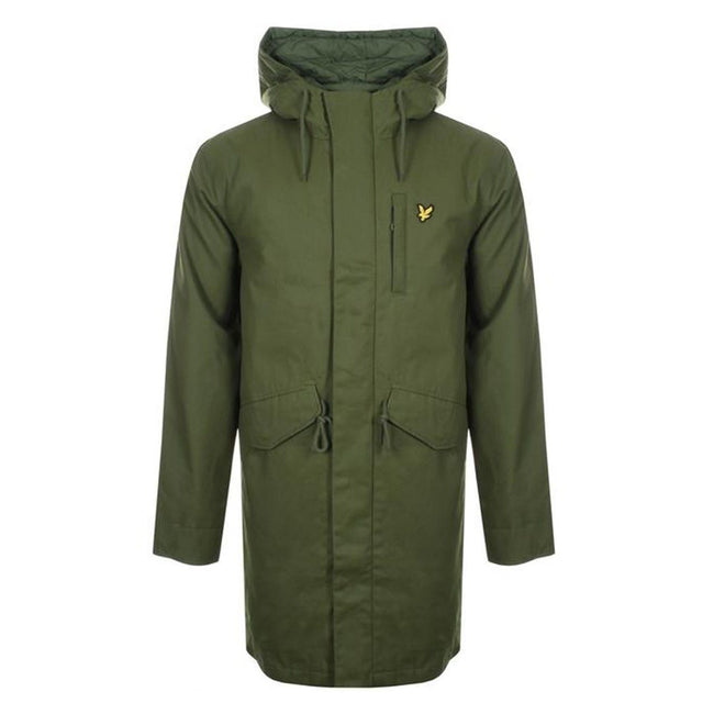 Lyle & Scott Wax Parka in Green