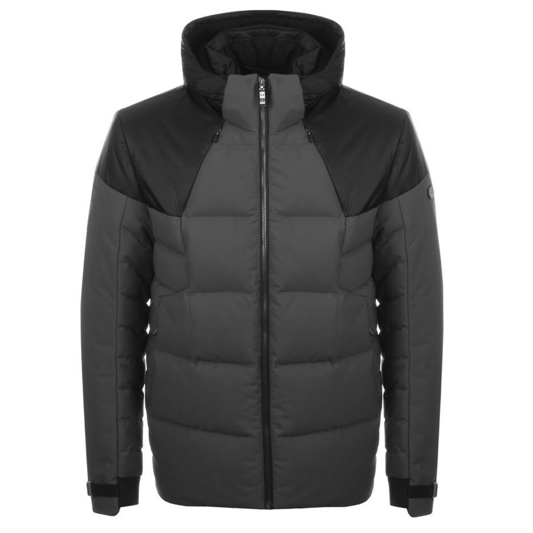 BOSS Athleisure Jeiko Padded Down Jacket in Grey Coats & Jackets BOSS