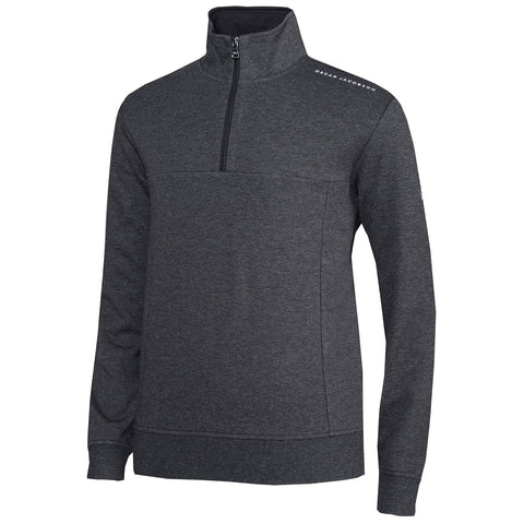 Oscar Jacobson Iwan Pin Half Zip in Grey