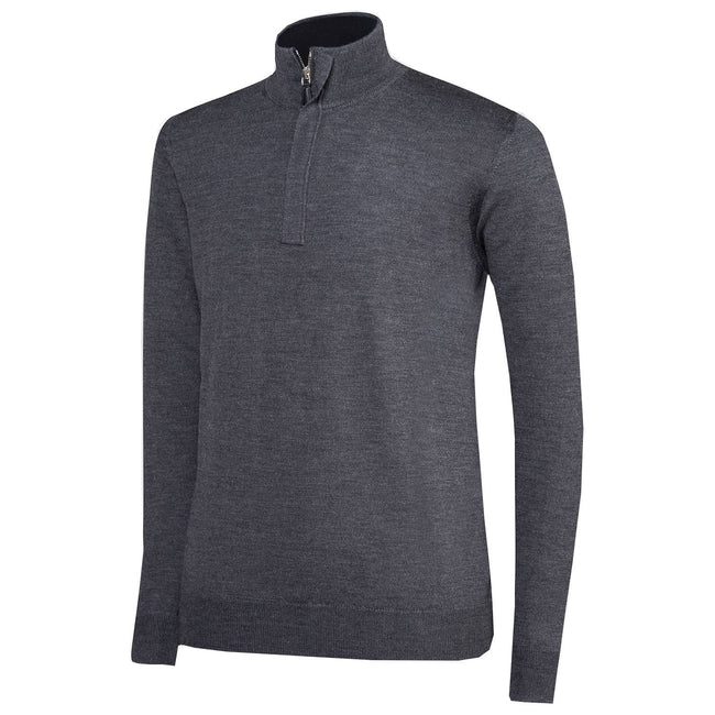 Oscar Jacobson Heron Pin Half Zip in Grey