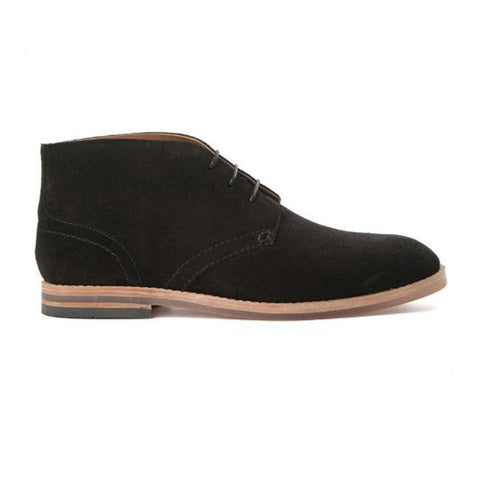 Hudson Lancing Suede Boots In Brown