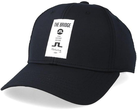 J. Lindeberg Iconic Patch Tech Stretch Cap in Black Hats J. Lindeberg