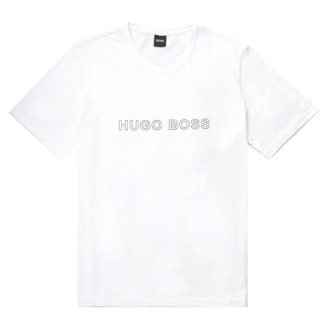 BOSS Bodywear Identity Stretch Cotton T-Shirt in White
