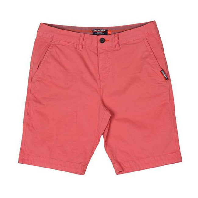 Superdry International Chino Shorts in Pomergranate