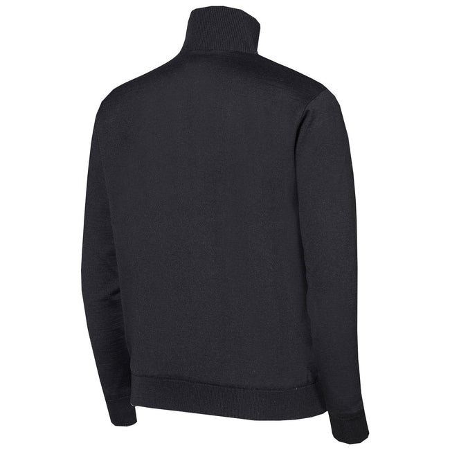 Oscar Jacobson Iwan Pin Half Zip in Black