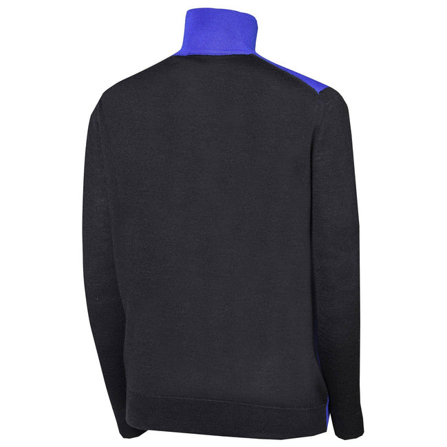 Oscar Jacobson Jerome Pin Half Zip in Blue