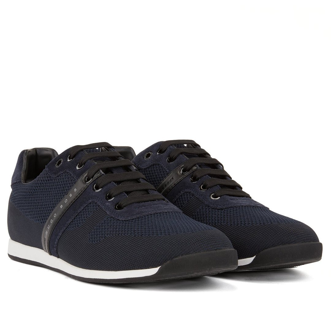 BOSS Athleisure Maze Lowp Knit-2 Trainers in Dark Blue