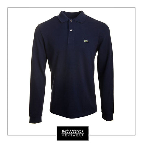 Lacoste Long Sleeve Polo Shirt L1312-166 in Navy