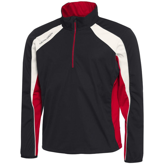 Galvin Green Lennox Interface-1 Half Zip Windstopper in Black / Red / Snow