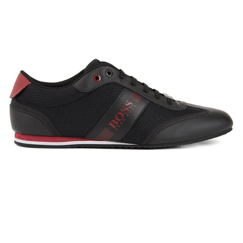 BOSS Athleisure Light Lowp MXME Trainers in Black / Red Trainers BOSS