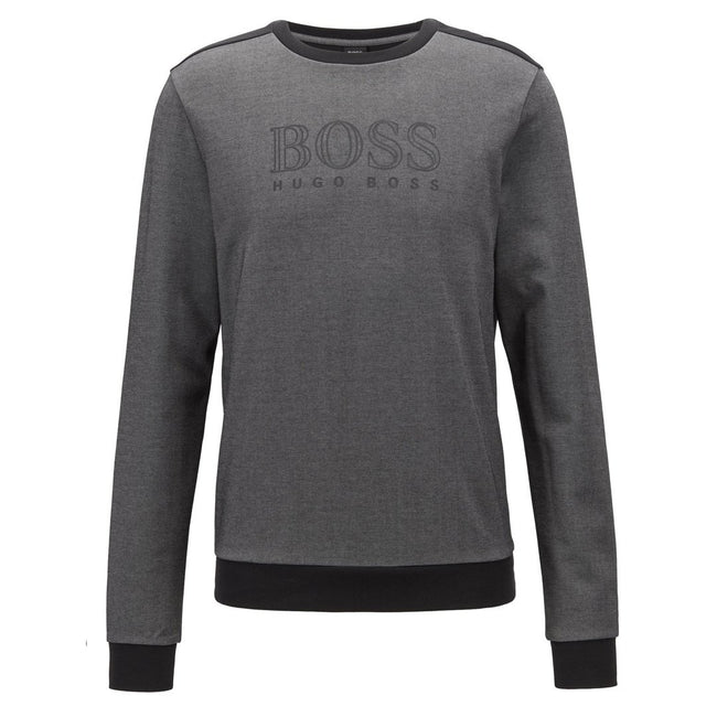 BOSS Bodywear Relaxed Fit Lounge Wear Sweatshirt in Black Jumpers BOSS
