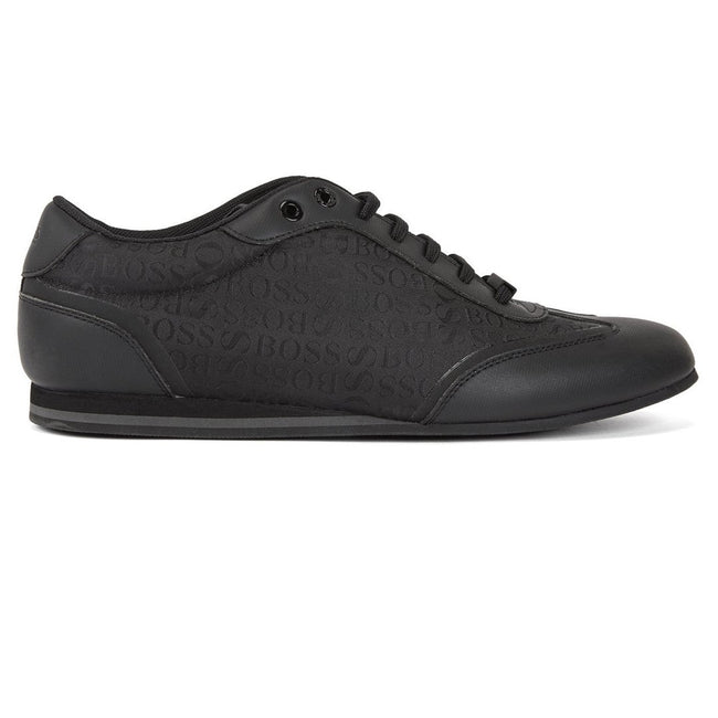 BOSS Athleisure Lighter Lowp Logo Trainers in Black