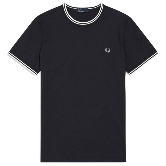 Fred Perry M1588 Twin Tipped Tee in Navy