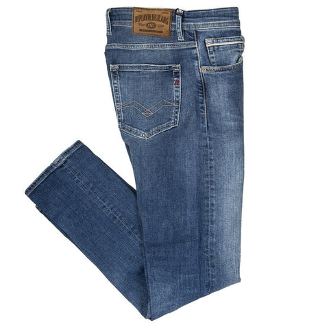 Grover Tapered Fit Jeans in Light Blue Jeans Replay