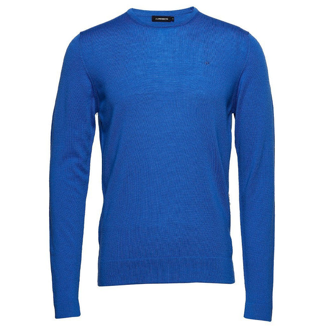 J. Lindeberg R-Neck Perfect Merino Jumper in Pop Blue