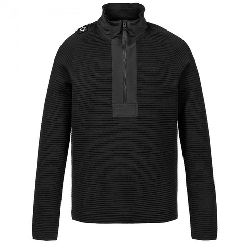 MA.STRUM Merino Quarter Zip in Jet Black Jumpers MA.STRUM