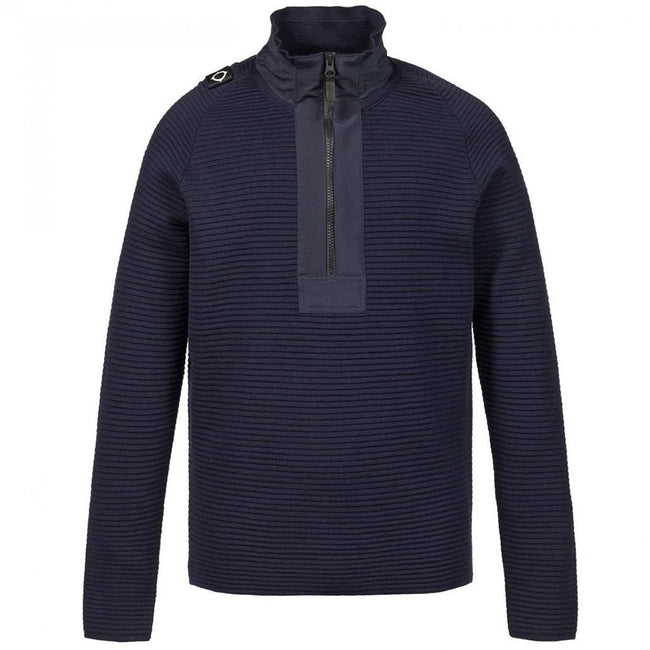 MA.STRUM Merino Quarter Zip in True Navy