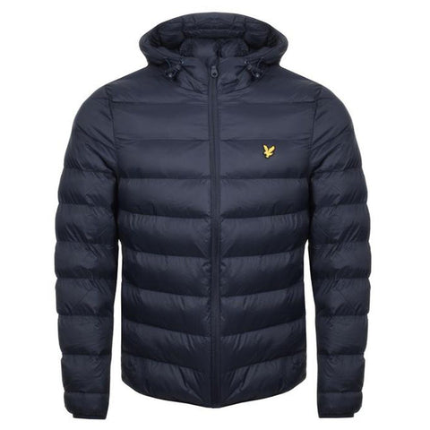 Lyle & Scott Lightweight Puffer Jacket in Dark Navy Coats & Jackets Edwards Menswear