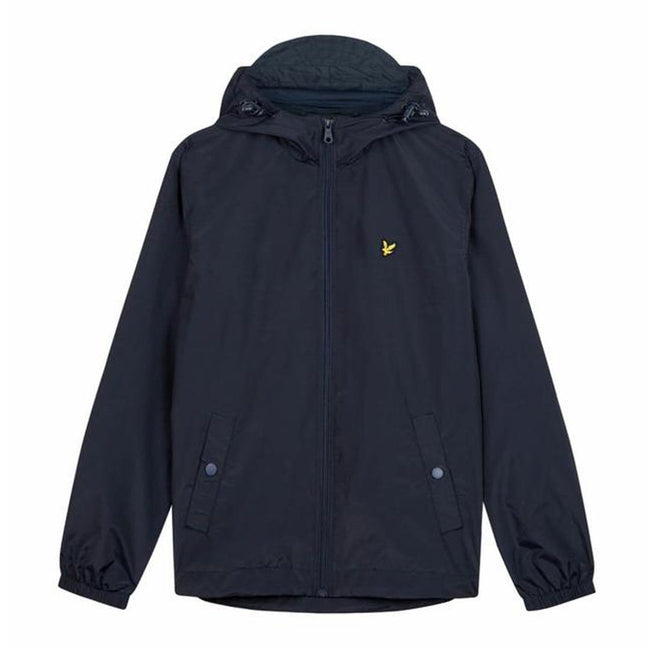 Lyle & Scott Zip Through Hooded Jacket in Dark Navy