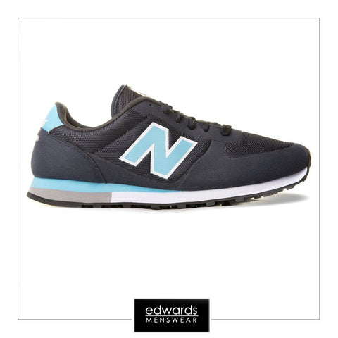 New Balance Navy/White/Blue Suede Trainers