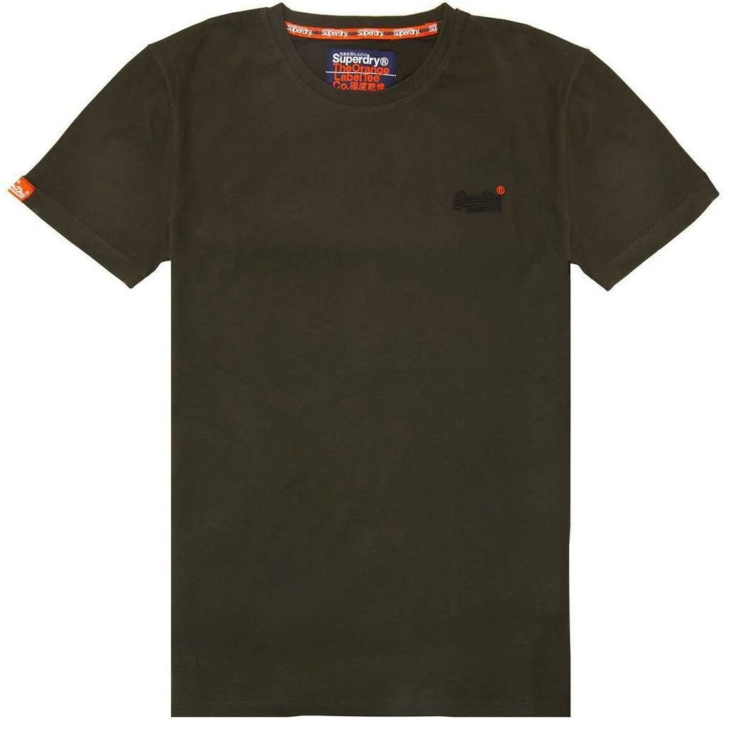 Superdry Orange Label Vintage Short Sleeved T-Shirt in Surplus Goods Olive