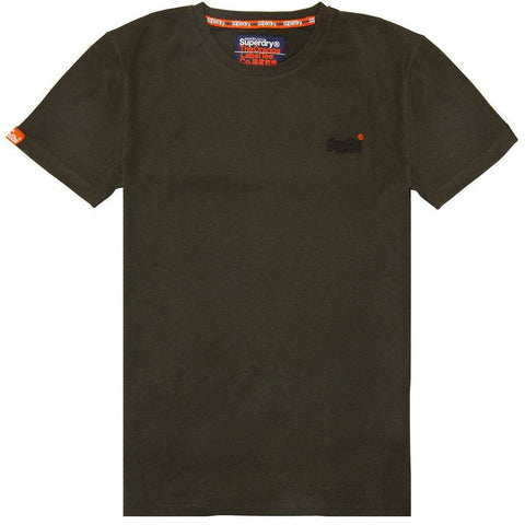 Superdry Orange Label Vintage Short Sleeved T-Shirt in Surplus Goods Olive T-Shirts Superdry